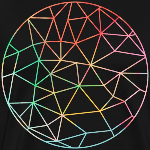 Colored Skeleton Sphere - Men's Premium T-Shirt