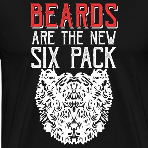 BEARDS ARE THE NEW SIXPACK - Men's Premium T-Shirt