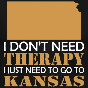 I Dont Need Therapy I Just Want To Go Kansas - Men's Premium T-Shirt