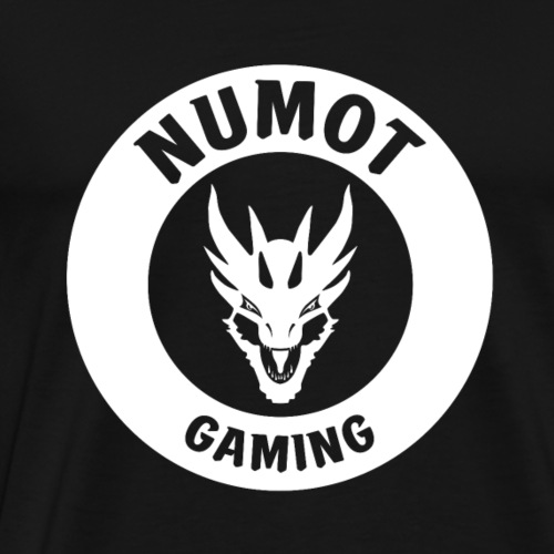 Numot Gaming Logo - White on Black - Men's Premium T-Shirt