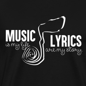 Music Lyrics - Men's Premium T-Shirt