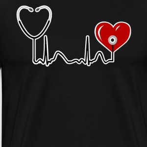 Nurse Heartbeat t Shirt Best Gifts For Nurse RN - Men's Premium T-Shirt
