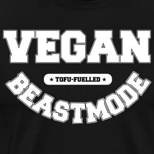 VEGANBEASTMODE [white] - Men's Premium T-Shirt