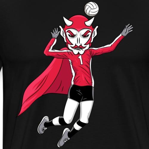 custom red devil mascot volleyball - Men's Premium T-Shirt