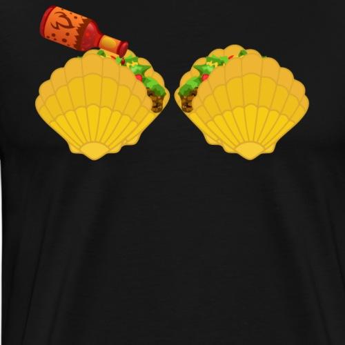 Mermaid Shell Shirt Taco Bra & Spicy Chili Sauce - Men's Premium T-Shirt