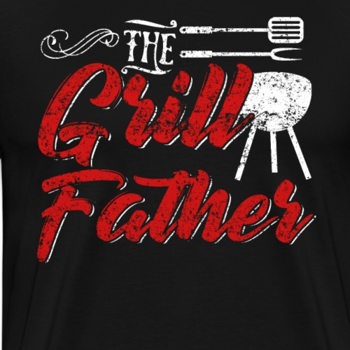 The Grillfather Godfather Grillmaster - Men's Premium T-Shirt