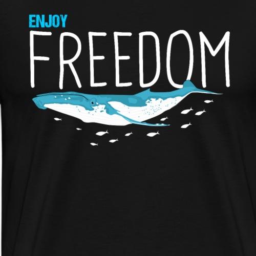 Enjoy Freedom Sealife Whales - Men's Premium T-Shirt