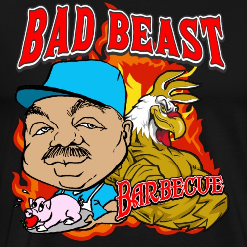 Bad Beast Barbecue Logo #2 - Men's Premium T-Shirt