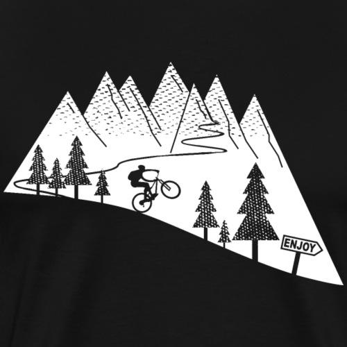 mountain bike cycling bicycle - Men's Premium T-Shirt