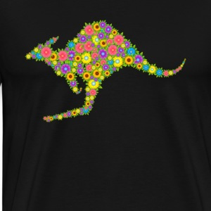 Kangaroo Flower Shirt - Men's Premium T-Shirt