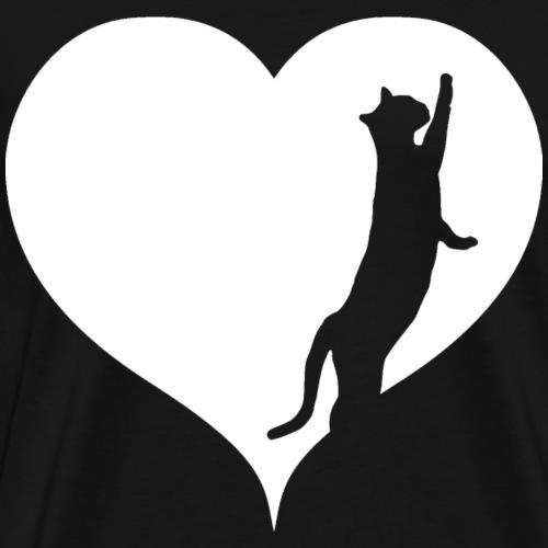 Heart kitten - Men's Premium T-Shirt