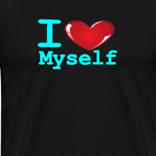 i Love Myself -Cyan- Best Selling Design - Men's Premium T-Shirt
