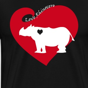 Love Rhinocero Tee Shirt - Men's Premium T-Shirt