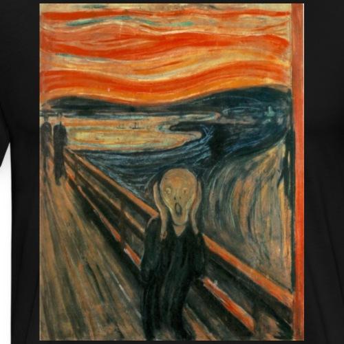 The Scream (Edvard Munch) - Men's Premium T-Shirt