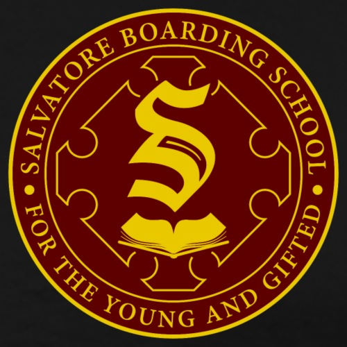 Salvatore Boarding School Crest - Men's Premium T-Shirt