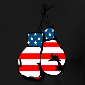 USA flag boxing gloves - Men's Premium T-Shirt