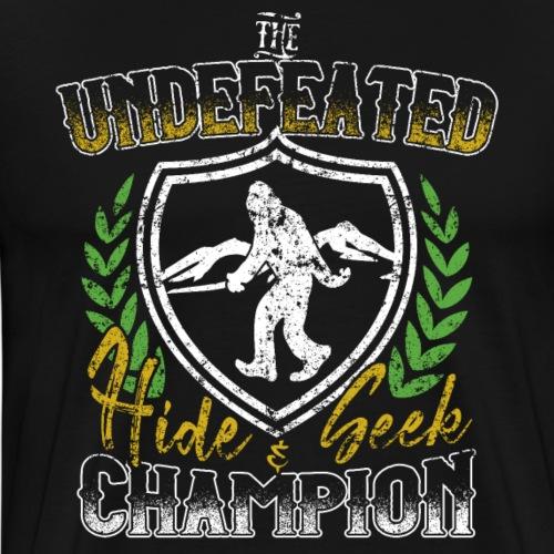 Bigfoot Undefeated Hide & Seek Champion Sasquatch - Men's Premium T-Shirt