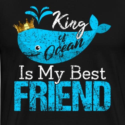 KING of Ocean Whales - Men's Premium T-Shirt