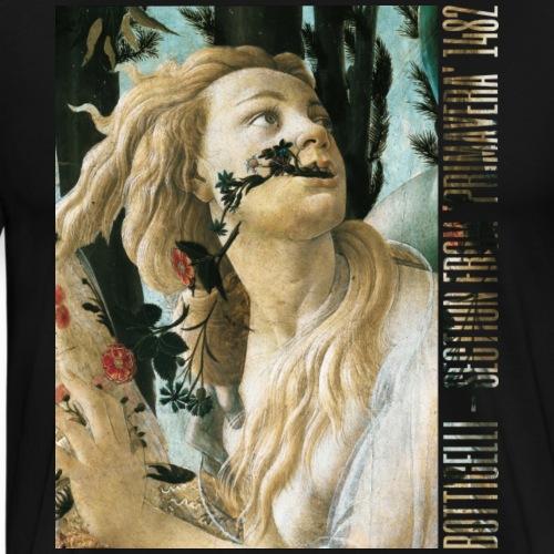 Botticelli - Section from Primavera 1482 - Men's Premium T-Shirt