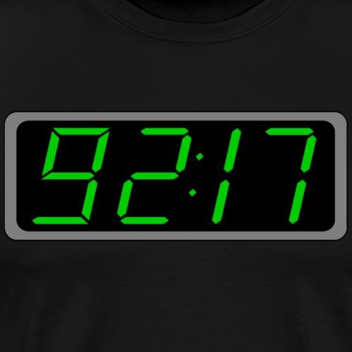 Rise Digital Characters Green on Black Clock - Men's Premium T-Shirt
