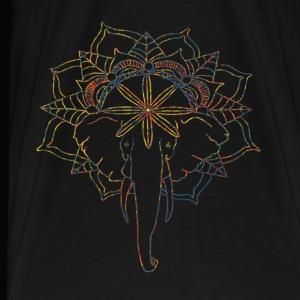 Colorful Mandala Elephant - Men's Premium T-Shirt