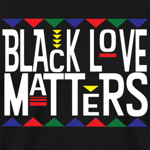 Black Love Matters (White Letters) - Men's Premium T-Shirt