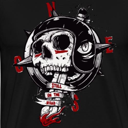 Skull Compass - Men's Premium T-Shirt
