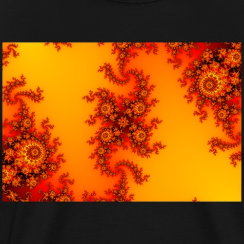 Colorful Fire Fractal with intricate swirls - Men's Premium T-Shirt