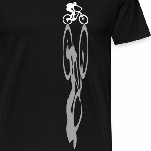 mountain bike mountain biker shadow - Men's Premium T-Shirt