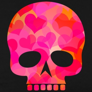 skull with red hearts - Men's Premium T-Shirt