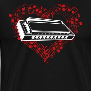 Love Harmonica Shirt - Men's Premium T-Shirt