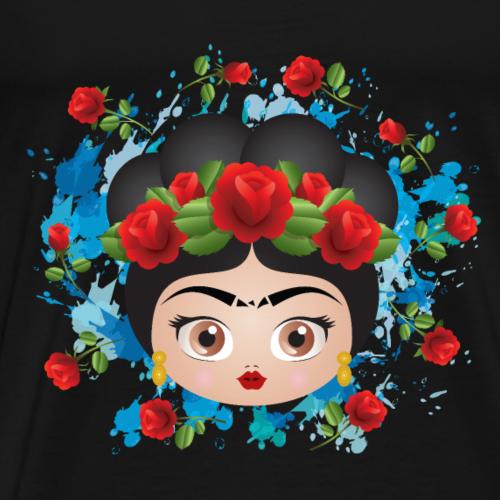 Frida Kahlo Roses - Men's Premium T-Shirt