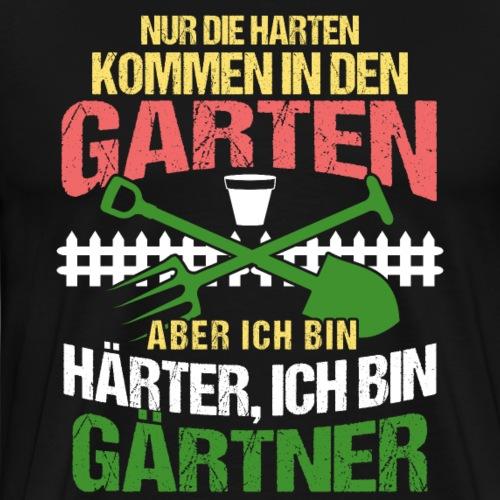 Proud Gardener Strong and Tough (German Sayings) - Men's Premium T-Shirt