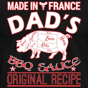 Made In France Dads BBQ Sauce Original Recipe - Men's Premium T-Shirt