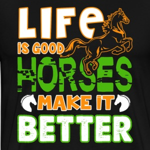 Life Is Good Horses Shirt - Men's Premium T-Shirt