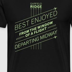 Best enjoyed from the window of a flight departing - Men's Premium T-Shirt