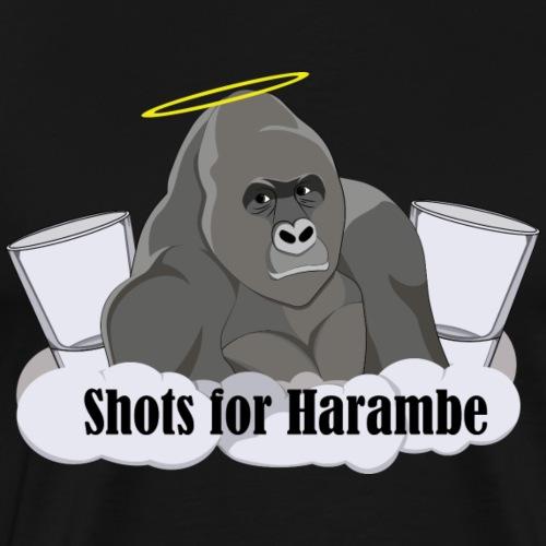 Shots for Harambe - Men's Premium T-Shirt
