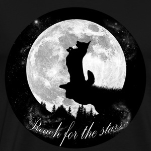 Reach for the stars - Welsh Corgi Cardigan - Men's Premium T-Shirt