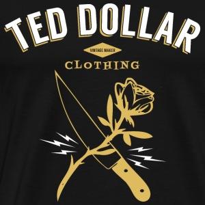 Rose and knife - Men's Premium T-Shirt