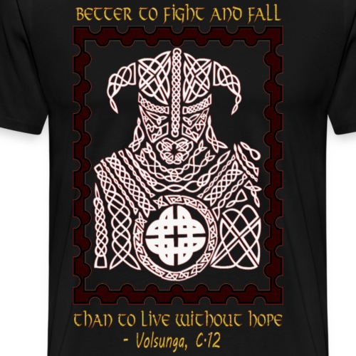 Viking Proverb for Strength - Men's Premium T-Shirt