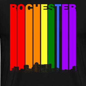 Rochester MN Skyline Rainbow LGBT Gay Pride - Men's Premium T-Shirt
