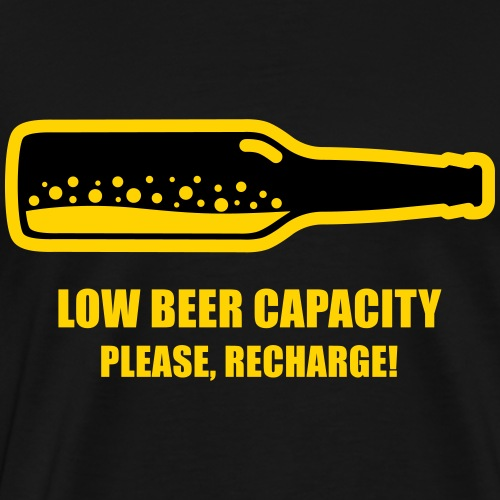 Low Beer Capacity 2 - Men's Premium T-Shirt