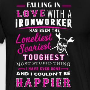 Fall In Love With Ironworker Shirt - Men's Premium T-Shirt
