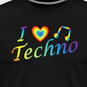 I LOVETECHNO MUSIC - Men's Premium T-Shirt