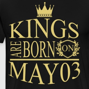 Kings are born on May 03 - Men's Premium T-Shirt