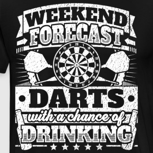 Weekend Forecast Darts Drinking Tee - Men's Premium T-Shirt