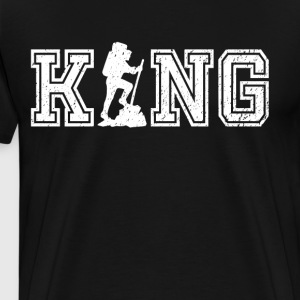 King of Hiking graphic hiker shirt - Men's Premium T-Shirt