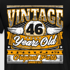 Funny 46th Birthday Shirt: Vintage 46 Years Old - Men's Premium T-Shirt