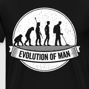 Treasure Hunter: Graphic Metal Detector Evolution - Men's Premium T-Shirt