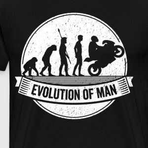Funny Biker Motorbike Evolution Motorcycle T Shirt - Men's Premium T-Shirt
